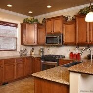 Kitchen Wall Colors In New Home Ideas Medium Brown Cabinets Kitchens