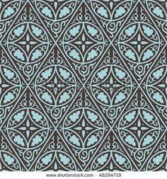 Byzantine Patterns | Seamless Byzantine Style Background Stock Vector 48284719 ...