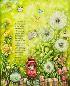 Dandelions! I love dandelions!! I often think that they add colours to the wind! As how we add colours to all these beautiful drawings.. ☺️
