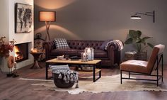 Micasa Wohnzimmer mit Salontisch LANDIS Sofas, Different Fabrics, Couch, Furniture, Home Decor, Homes, House, Couches, Settee