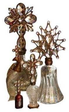 Crystal Cross Bottles.