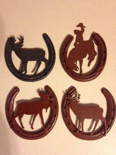 Handcrafted Horseshoe Trivet with real shoes cowgirl western kitchen decor NEW