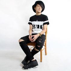 18.29$  Buy now - http://alifh8.shopchina.info/go.php?t=32717853977 - 2016 Famous Brand Skinny Ripped Jeans Pants For Men New Designer Black Knee Zipper Jeans Stretch Man Moto Biker Jeans 01Z1805  #buymethat