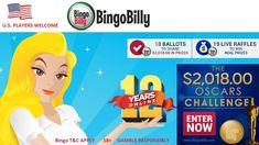 Oscar's 2018 Challenge Raffle from Bingo Billy Play Bingo Online, High Roller, Best Online Casino, Casino Bonus, Oscars, Competition, Challenges, How To Apply, Coding