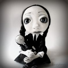 Custom Loopy Gothic Art Doll Ooak Wednesday Addams by loopyboopy, $375.00