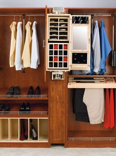 "Rev-A-Shelf CAG-081642-1 | Rev-A-Shelf introduces its mens pivoting Closet Armoire. Designed for use alone or in conjunction with the Storage Armoire, this product fits into an 8"" opening between two 16"" depth closet panels, simply add a panel front and you have the must have in closet organization. Its innovative pivoting action allows you to access either the 30"" mirror or the various storage compartments with a flick of the wrist. Mounted on heavy-duty slides, it pivots, stopping at every…"