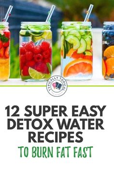 Detox Water To Lose Weight, Fast Weight Loss, How To Lose Weight Fast, Fat Fast, Water Weight, Losing Weight, Best Fat Burning Foods, Fat Burning Detox Drinks, Fat Burning Water