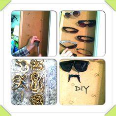 DIY sunglasses storage!