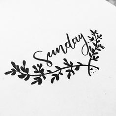 Sunday againnnn  #type #typography #typographyinspired #lettering #script #calligraphy #sunday #happy #weekend #lazy #sketch #quickie #papermate #goodtype #handtype #dailytype #dailydoodle #vscocam