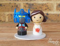 Optimus prime and bride wedding cake topper  https://www.facebook.com/genefyplayground