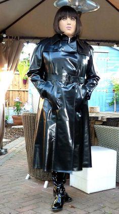 SBR shiny black rubber mackintosh raincoat trench 50 chest d/breasted TV fit Mackintosh Raincoat, Black Raincoat, Rubber Raincoats, Rubber Doll, Plastic Raincoat, Female Supremacy, Wellington Boot, Unique Shoes, Rain Wear