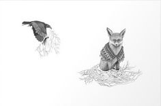 crow builds a nest for fox!!!!