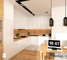 Kuchnia styl Nowoczesny - zdjęcie od design me too Modern Kitchen Apartment, Simple House Design, Kitchen Remodel, Kitchen Decor, Contemporary Kitchen, Kitchen Room Design, Kitchen Diner, Modern Kitchen Interiors, Small Kitchen Decor