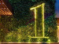 1 Hotel South Beach Miami, by Meyer Davis Studio South Beach Miami, South Beach Hotels, Beach Resorts, Hotel Signage, Wayfinding Signage, Landscape Architecture, Landscape Design, Landscape Plane, Shops