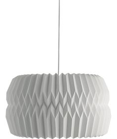 Kura extra large white paper ceiling light shade has been made using simple, paper-folding techniques resulting in a contemporary origami design. Buy now at Habitat UK. Paper Light Shades, Ceiling Light Shades, Ceiling Lights, Bedroom Light Shades, White Ceiling, Paper Folding Techniques, Paper Lampshade, Lampshades, Origami Lampshade