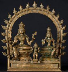 Bronze Shiva, Parvati, Murugan Statues