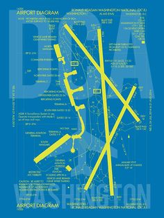 FLL Fort Lauderdale Airport Diagram   Poster   Forts, Fort ...