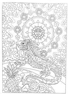 Talavera Dog Pampered Pets Adult Coloring Book By