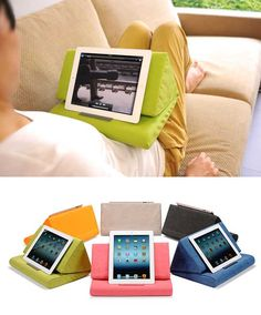 I dont have an ipad but I think this would work with any tablet. Check out 10 iPad pillow cases.