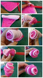 DIY for Mommies: Washcloth Roses