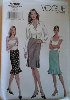 Karl Lagerfeld Skirt And Jacket Sewing Pattern Vogue 2788