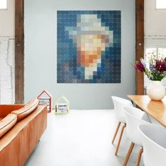 Another famous self-protection by Vincent Van Gogh revisited in pixel mode. Its UV and humidity resistant material allows it to find its place Creative Office Space, Van Gogh Museum, Art Van, Modern Wall Decor, Vincent Van Gogh, Pixel Art, Interior Architecture, Gallery Wall, Abstract