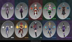 SYNDRA - 10 skin concepts by iBralui on DeviantArt