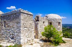 Venetian fortress at Exo Chora village, Zakynthos island, Ionian sea, Greece Exo, Byzantine, Olympus, Mount Rushmore, Medieval, Greece, Island, Mountains, Castles