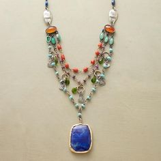 Tiered Lapis Necklace from Sundance on Catalog Spree, my personal digital mall.