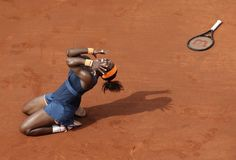 Serena Williams celebrates her 2nd French Open title