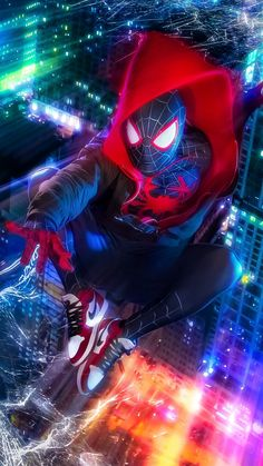 Miles Morales - Ultimate Spider-Man, Into the Spider-Verse Films Marvel, Marvel Art, Marvel Characters, Marvel Heroes, Marvel Cinematic, Marvel Avengers, Marvel Comics, Spiderman Marvel, Batman Art