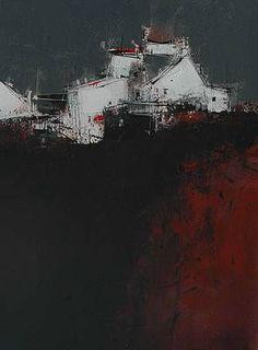 Scottish Artist James SOMERVILLE-Evening Poppy Field