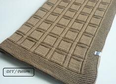 leicht neuen Knit baby blanket pattern / baby blanket pattern / baby blanket knitting pattern / knitting pattern for babies, Knitting Gauge, Easy Knitting, Knitting Stitches, Easy Knit Baby Blanket, Knitted Baby Blankets, Wool Blanket, Baby Knitting Patterns, Baby Patterns, Crochet