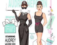 Audrey Hepburn en el papel de Sabrina por PaperDollsbyERMiller