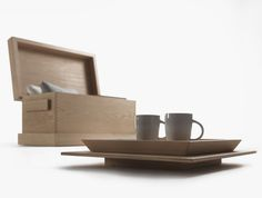 MATRABANCA | Chest in solid oak with removable trays