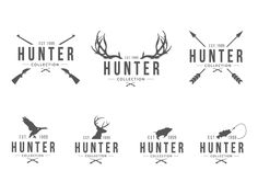 J G. Hunter Vintage Logo / Brand Design Branding, Graphic Design, Typography
