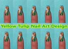 ~Yellow Tulip Nail Art Design by KawaiiNailArt from Nail Art Gallery~