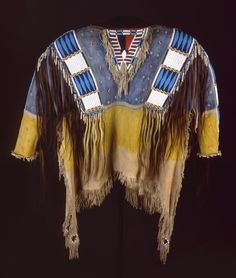 Shirt, Lakota Sioux, 1870s, Adolf Spohr Collection, Gift of Larry Sheerin, NA.202.598. Plains Native art exhibit - Buffalo Bill Center of the West