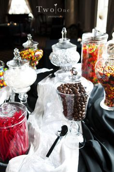 Who doesn't love a candy station?!    Venue: http://www.themanorhouse.com/index2.php    Photography: http://twoonephotography.com/index2.php#/home/
