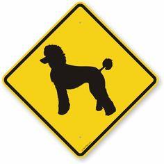 "Poodle Symbol, Fluorescent Yellow Diamond Grade Reflective Aluminum Sign, 24"" x 24"" RoadTrafficSigns,http://www.amazon.com/dp/B00895YSLA/ref=cm_sw_r_pi_dp_ECMGtb023HP35YAN"