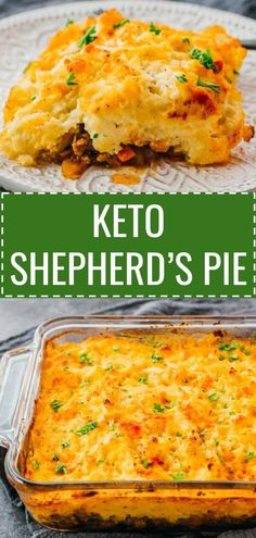 A healthy keto version of traditional shepherd's pie with lamb (or called cottage pie, if using beef). This is an easy recipe for the best low carb cauliflower mash and meat casserole. This classic Irish inspired meal is simple and quick to make, and you Keto Foods, Meat Recipes, Cooking Recipes, Cooking Tips, Healthy Recipes, Free Recipes, Best Easy Recipes, Drink Recipes, Vegetarian Recipes