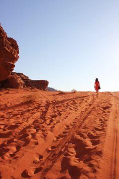 The sands of Wadi Rum