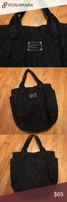 """Marc Jacobs small nylon tote Amazing condition.  12"""" x 12"""" x 3.5"""" No rips stains or signs of wear.  Smoke free home. Bundling available. Marc Jacobs Bags Totes"""