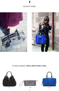 We <3 the first real leather suede bags by Paul's Boutique