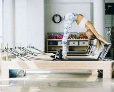 Pilates 9 Essential Reformer Moves For Your Best Body Ever We're learning how to use a Pilates reformer for our best bodies ever. Pro Andrea Speir is walking us through Pilates 101 with this killer routine. Pilates Workout, Pilates Reformer Exercises, Pop Pilates, Pilates Video, Pilates For Beginners, Pilates Yoga, Beginner Pilates, Beginner Workouts, Yoga Workouts
