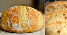 Domáci chlieb pripravovaný bez náročného miesenia - Receptik.sk Ciabatta, Bakery, Cooking Recipes, Cookies, Brot, Crack Crackers, Chef Recipes, Biscuits