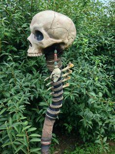 Necromancer Staff     by Halloween Home https://www.facebook.com/Hallohome