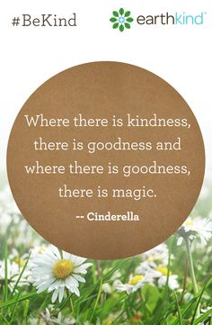 """""""Where there is kindness there is goodness, and where there is goodness, there is magic."""" - Cinderella Kindness quote. BeKind."""