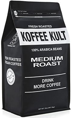 Koffee Kult - Medium Roast Coffee Beans (2 lb Whole Bean) Highest Quality Delicious Coffee - Fresh Gourmet Aromatic Artisan Blend - Packaging May Vary * Be sure to check out this awesome product.-It is an affiliate link to Amazon.