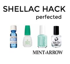 shellac hack - make your polish last a week! no light for curing and it comes right off w/ nail polish remover.